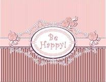 De gelukwens van het huwelijk in roze kleur Stock Foto's