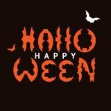 De gelukwens van de ontwerpprentbriefkaar met Gelukkig Halloween Royalty-vrije Stock Fotografie
