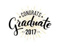 De gelukwensen behalen 2017 een diploma stock illustratie