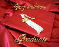 De gelukwensen behalen Kaart een diploma Stock Foto