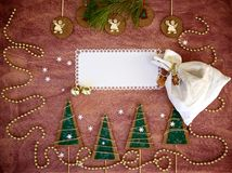 De gelukwensen van de de wintervakantie Royalty-vrije Stock Foto's