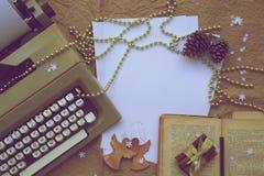 De gelukwensen van de de wintervakantie voor schrijver Royalty-vrije Stock Afbeelding