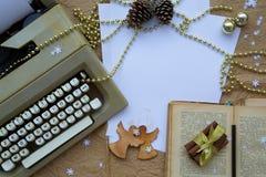 De gelukwensen van de de wintervakantie voor schrijvers Stock Afbeeldingen