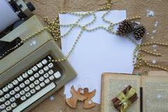 De gelukwensen van de de wintervakantie voor schrijvers Stock Afbeelding