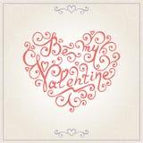 De gelukwensenkaart van de valentijnskaartendag Vector Royalty-vrije Stock Afbeeldingen