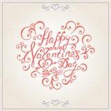De gelukwensenkaart van de valentijnskaartendag Vector Stock Fotografie