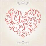 De gelukwensenkaart van de valentijnskaartendag Vector Royalty-vrije Stock Foto