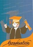 De gelukwensviering van de graduatie Stock Afbeelding
