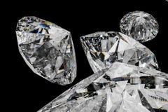 de gem van de luxediamant, het 3d teruggeven stock foto