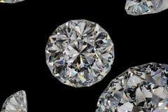 de gem van de luxediamant, het 3d teruggeven stock fotografie