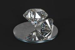 de gem van de luxediamant, het 3d teruggeven stock foto's