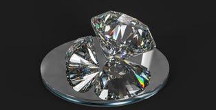 de gem van de luxediamant, het 3d teruggeven royalty-vrije stock afbeelding