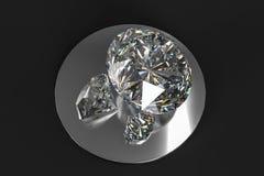 de gem van de luxediamant, het 3d teruggeven royalty-vrije stock afbeeldingen