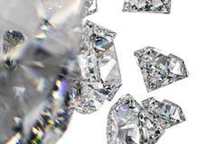 de gem van de luxediamant, het 3d teruggeven royalty-vrije stock foto's