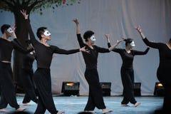 De gemaskeerde mens-2011 dansende het Overlegpartij van de klassengraduatie Royalty-vrije Stock Fotografie