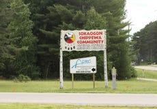 De Gemeenschap van Sokaogonchippewa in Crandon, Wisconsin royalty-vrije stock fotografie