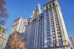 De Gemeentelijke Bouw van Manhattan Royalty-vrije Stock Afbeeldingen