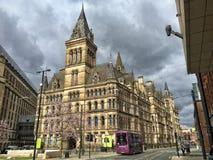De gemeenteraad van Manchester stock afbeeldingen