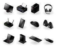 De gemengde pictogrammen van de computerhardware Stock Foto