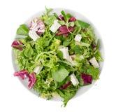 De gemengde salade van feta kaas Royalty-vrije Stock Foto's