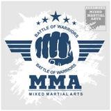 De Gemengde vechtsporten van de strijdclub MMA Stock Foto's