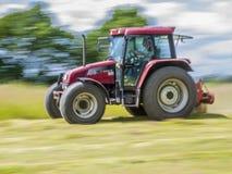 De gemotoriseerde landbouwer stock afbeeldingen