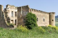 ¡ De Gendulà nas ruínas St James Way Navarra, Espanha Fotografia de Stock