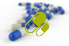 De geneeskunde van capsulepillen royalty-vrije illustratie
