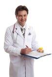 De geneeskunde van het de gezondheidsverslag van de arts stock foto's