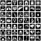 De geneeskunde van pictogrammen Stock Afbeeldingen