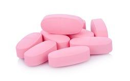 De geneeskunde van tablettenpillen medisch op witte achtergrond Royalty-vrije Stock Fotografie