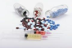 De geneeskundepillen voor behandeling Stock Afbeelding