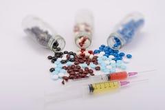 De geneeskundepillen voor behandeling Stock Foto's