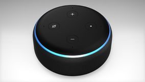 De 3de Generatie van Amazonië Alexa Echo Dot royalty-vrije illustratie