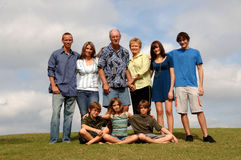 De generatiesportret van de familie Royalty-vrije Stock Foto's