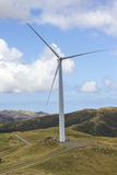 De generator van de de turbinemacht van het windlandbouwbedrijf Royalty-vrije Stock Afbeeldingen