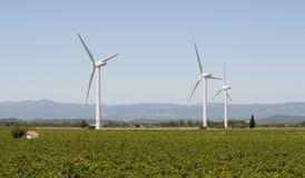 De Generators van de wind in Frankrijk Stock Afbeeldingen