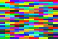 De genestelde multicolored achtergrond van rechthoeken rode blauwgroene heldere kleuren Royalty-vrije Stock Fotografie