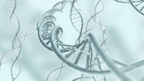 De genetische DNA-code loopt het 3D teruggeven vast Royalty-vrije Stock Afbeelding