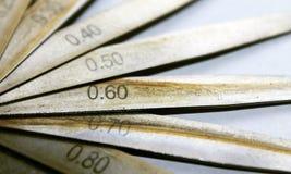 De geoli?de bladen van de roestvrij staalprecisie Stock Foto