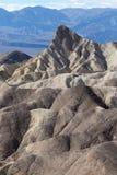 De geologie bij de doodsvallei van het zabriskiepunt Stock Foto's