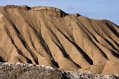 De geologie - Watererosie - Atacama-Woestijn - Chili Stock Fotografie