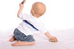 De Geoloog van de baby  royalty-vrije stock foto's