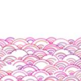 De geometrische abstracte achtergrond van de schalen eenvoudige Aard met het Aziatische van het patroon roze purpere kleuren van  vector illustratie