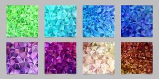 De geometrische abstracte chaotische achtergrond van het driehoekspatroon plaatste - mozaïek vector grafisch ontwerp van gekleurd royalty-vrije illustratie