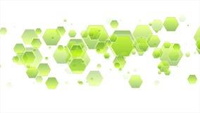 De geometrische abstracte videoanimatie van technologie stock illustratie
