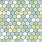De geometrische achtergrond maakte uit zeshoeken op diverse kleuren/de retro hexagon achtergrond royalty-vrije illustratie