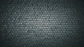 De geometrische achtergrond met grijze zeshoeken vat 3D samen teruggeeft stock illustratie