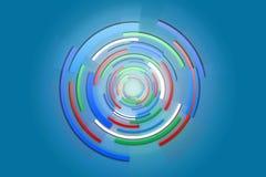 De geometrische achtergrond van de cirkel colorfull technologie Stock Fotografie