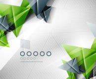 De geometrische achtergrond van de vorm abstracte driehoek Stock Afbeeldingen